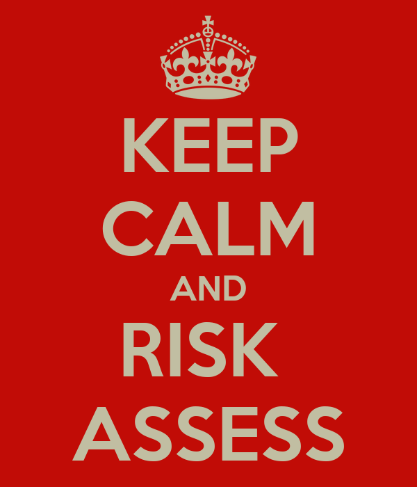 KEEP CALM AND RISK  ASSESS