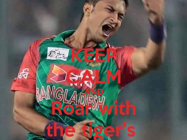KEEP CALM AND Roar with the tiger's