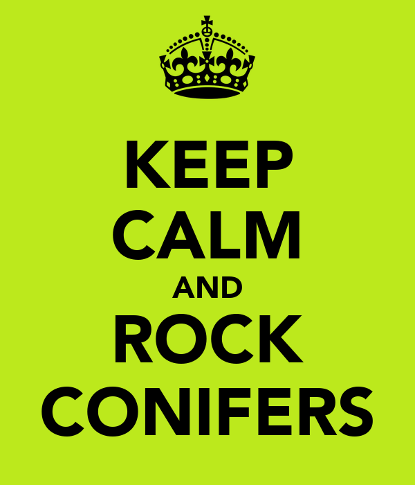 KEEP CALM AND ROCK CONIFERS