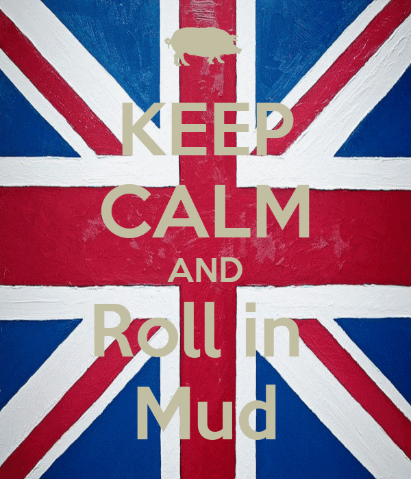 KEEP CALM AND Roll in  Mud