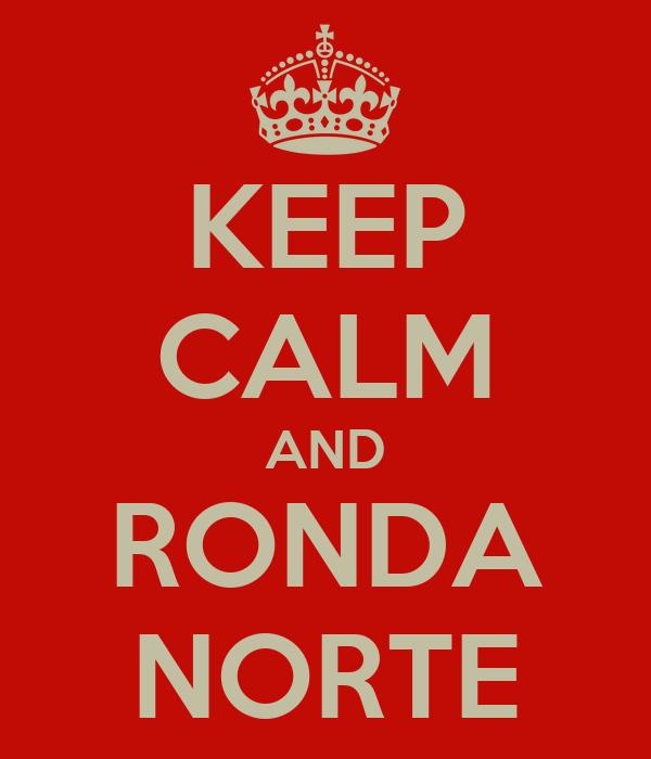 KEEP CALM AND RONDA NORTE