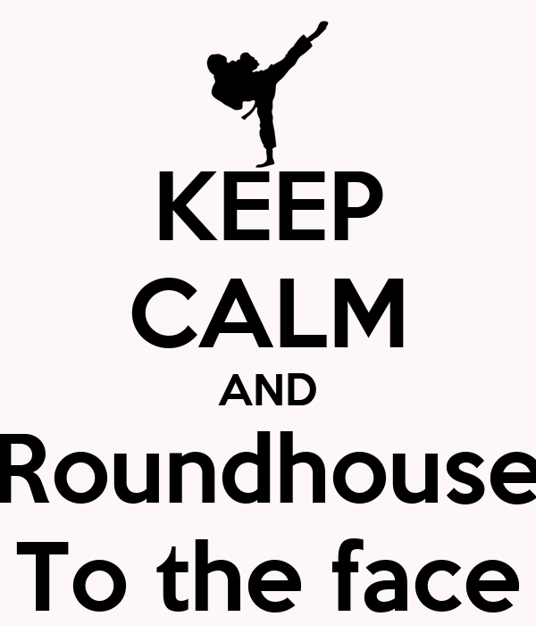 KEEP CALM AND Roundhouse To the face
