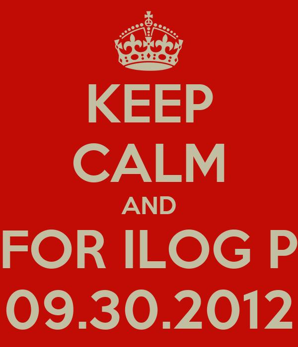 KEEP CALM AND RUN FOR ILOG PASIG 09.30.2012