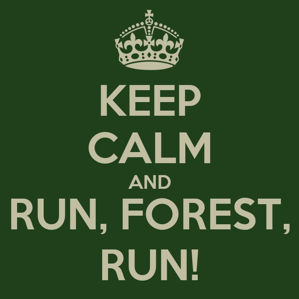 KEEP CALM AND RUN, FOREST, RUN!