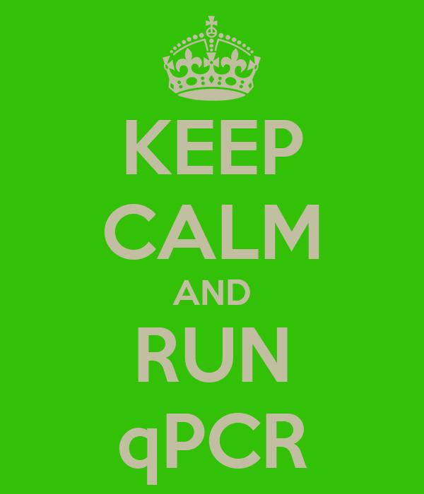 KEEP CALM AND RUN qPCR
