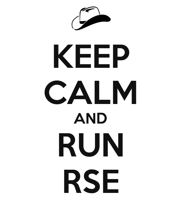 KEEP CALM AND RUN RSE