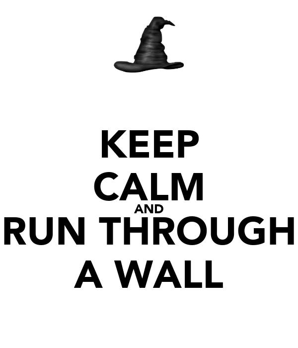 KEEP CALM AND RUN THROUGH A WALL