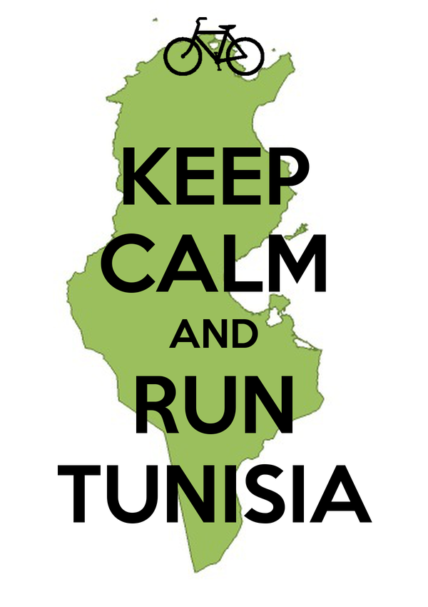 KEEP CALM AND RUN TUNISIA