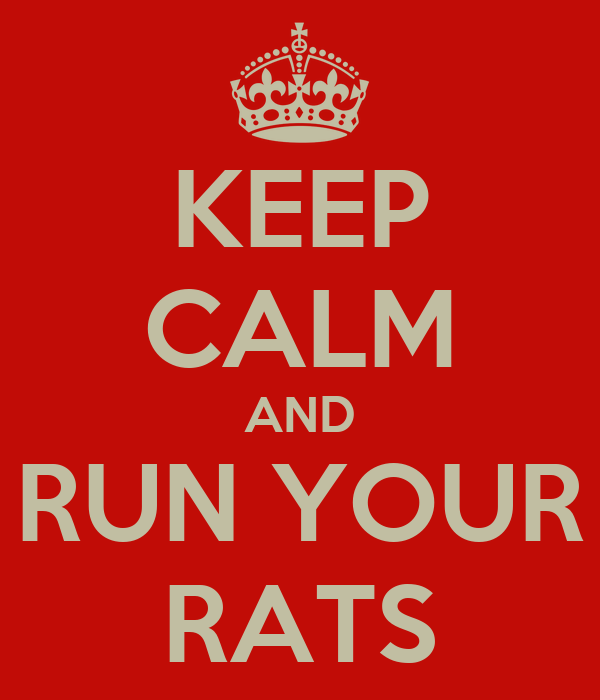 KEEP CALM AND RUN YOUR RATS