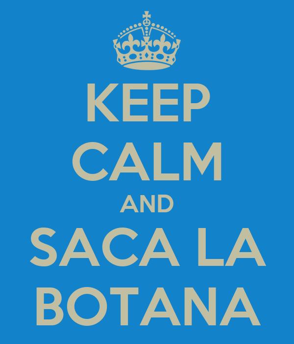 KEEP CALM AND SACA LA BOTANA