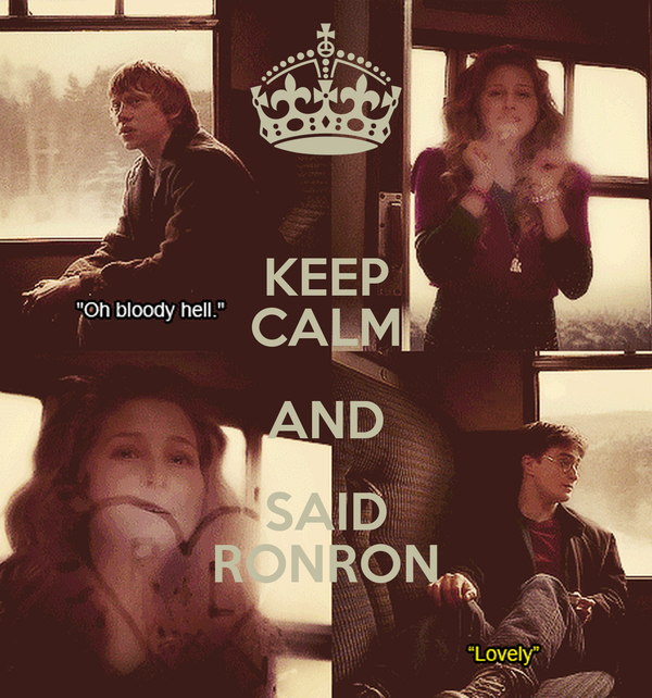 KEEP CALM AND SAID RONRON