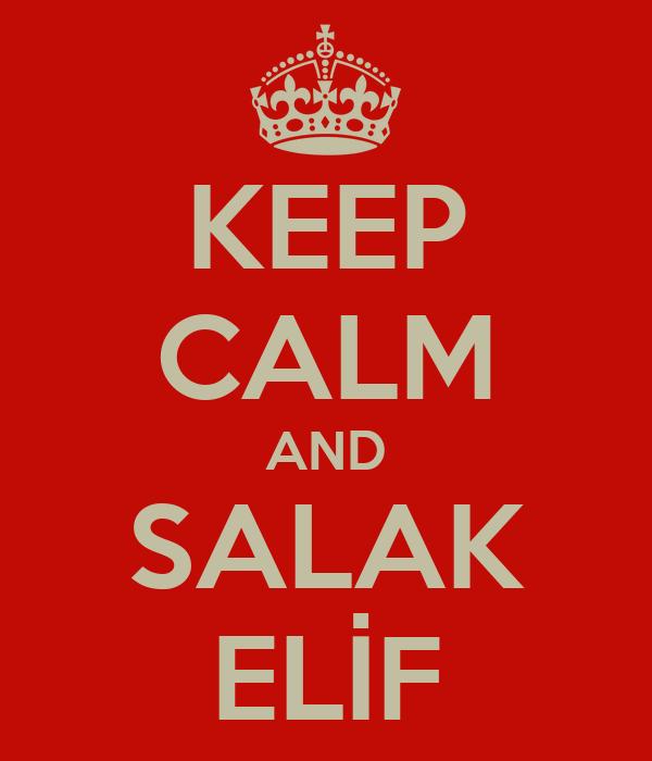 KEEP CALM AND SALAK ELİF