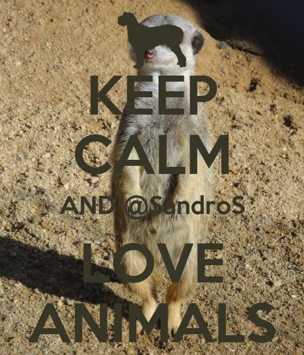 KEEP CALM AND @SandroS LOVE ANIMALS