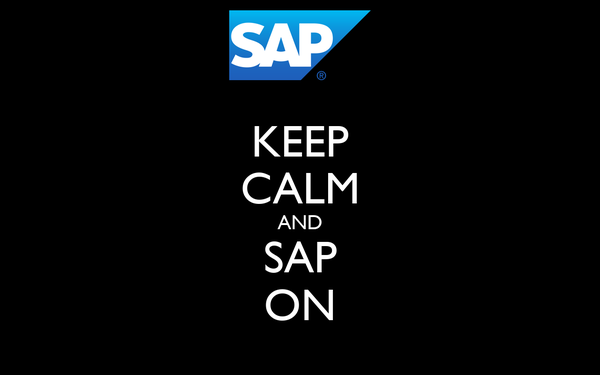 KEEP CALM AND SAP ON
