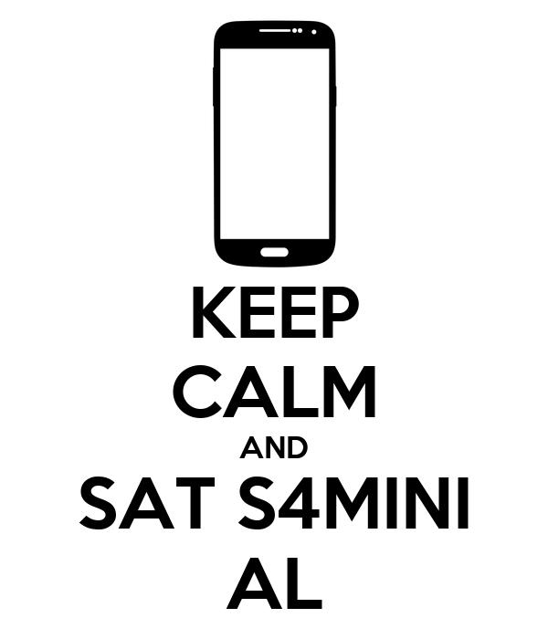 KEEP CALM AND SAT S4MINI AL