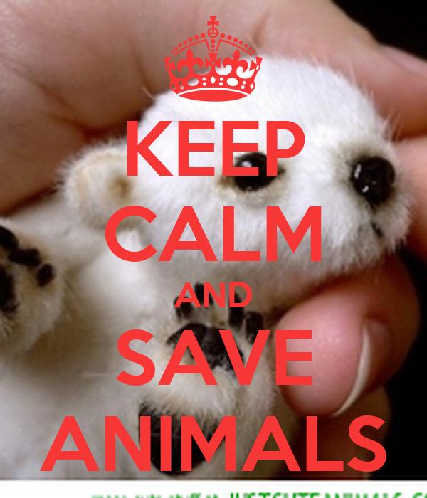 KEEP CALM AND SAVE ANIMALS