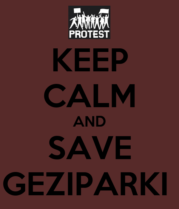 KEEP CALM AND SAVE GEZIPARKI