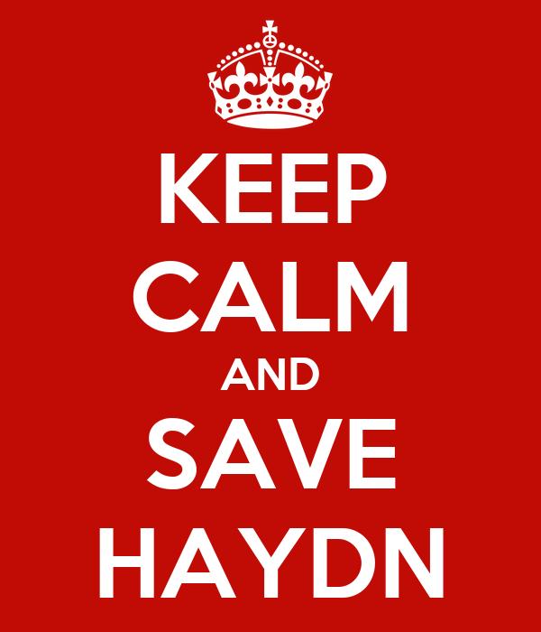 KEEP CALM AND SAVE HAYDN