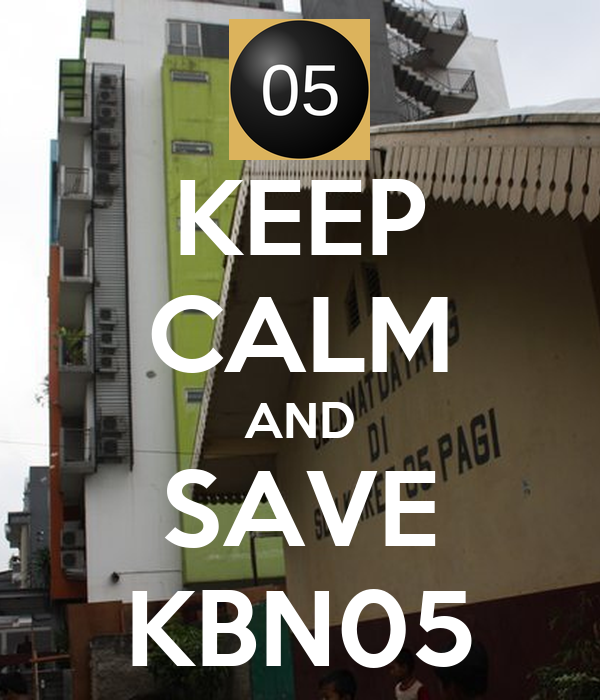 KEEP CALM AND SAVE KBN05