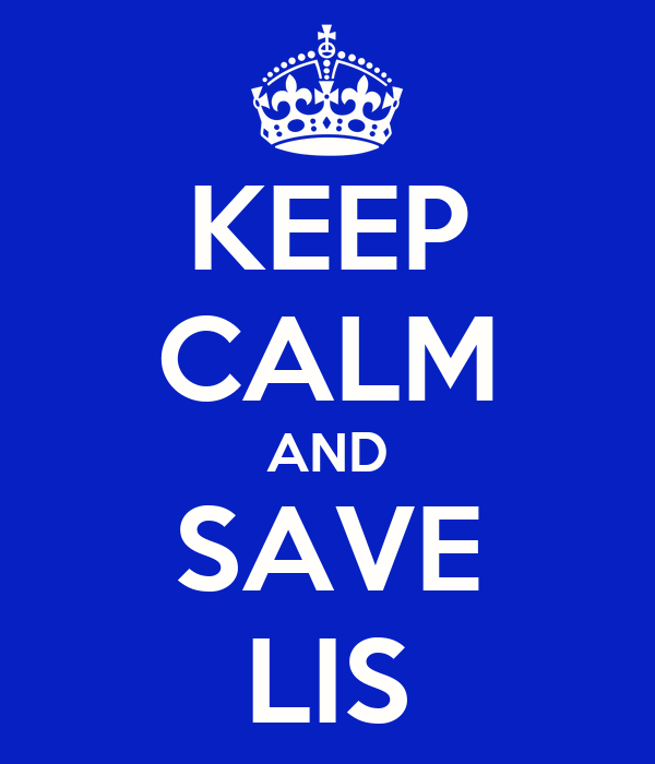 KEEP CALM AND SAVE LIS