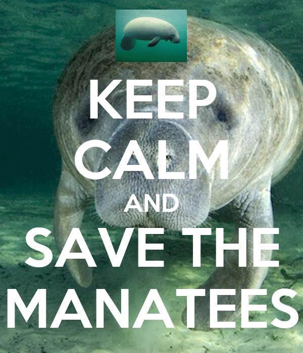 KEEP CALM AND SAVE THE MANATEES