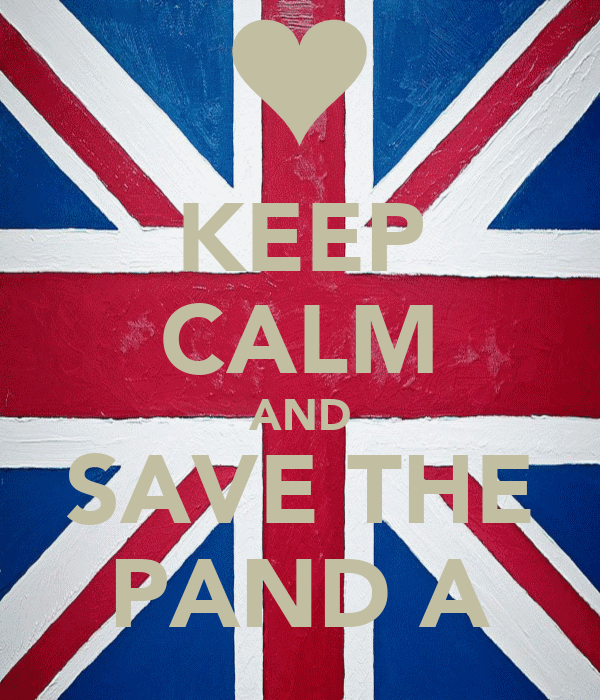 KEEP CALM AND SAVE THE PAND A