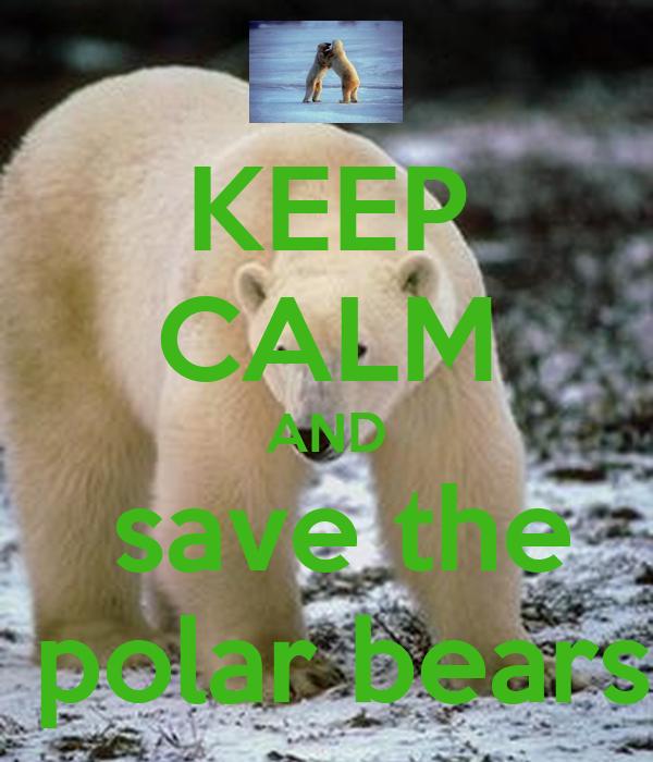 KEEP CALM AND  save the  polar bears