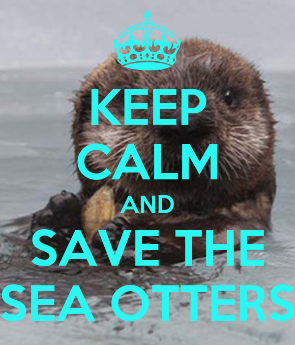 KEEP CALM AND SAVE THE SEA OTTERS