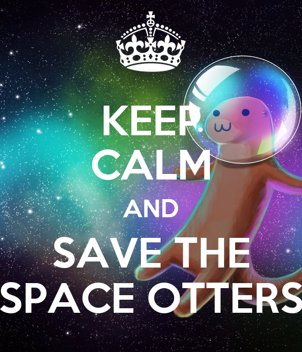 KEEP CALM AND SAVE THE SPACE OTTERS