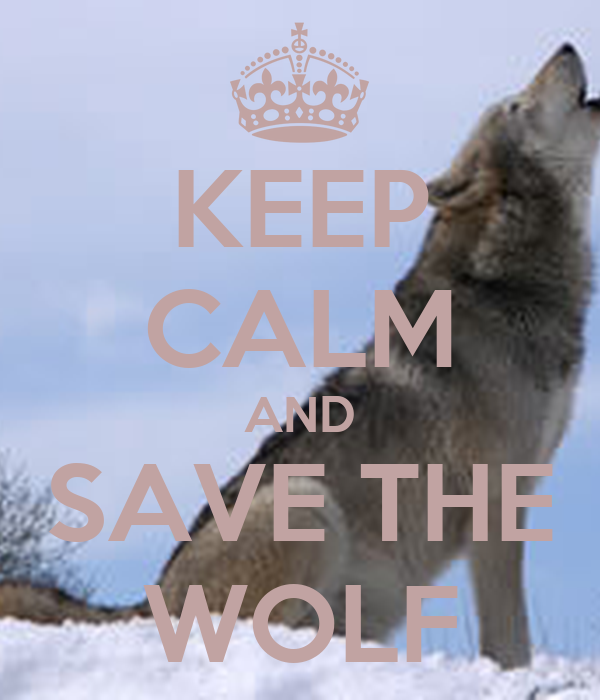 KEEP CALM AND SAVE THE WOLF