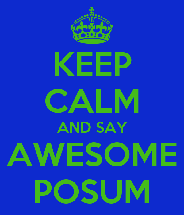 KEEP CALM AND SAY AWESOME POSUM
