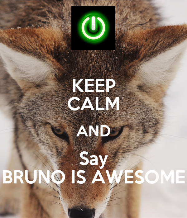 KEEP CALM AND Say BRUNO IS AWESOME