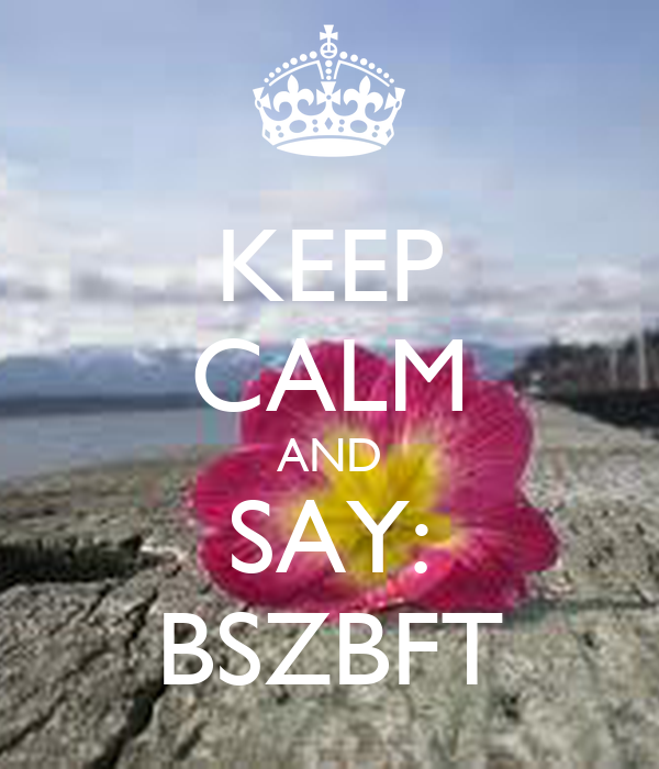 KEEP CALM AND SAY: BSZBFT