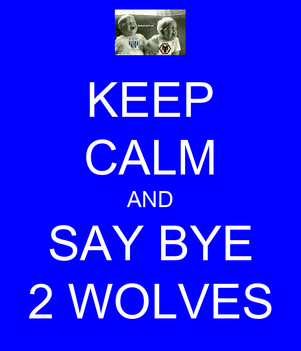 KEEP CALM AND SAY BYE 2 WOLVES