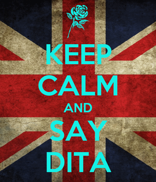 KEEP CALM AND SAY DITA