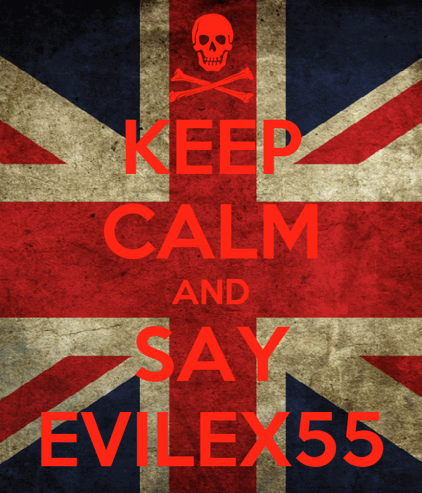 KEEP CALM AND SAY EVILEX55