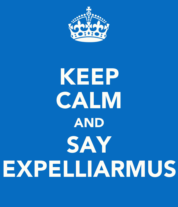 KEEP CALM AND SAY EXPELLIARMUS