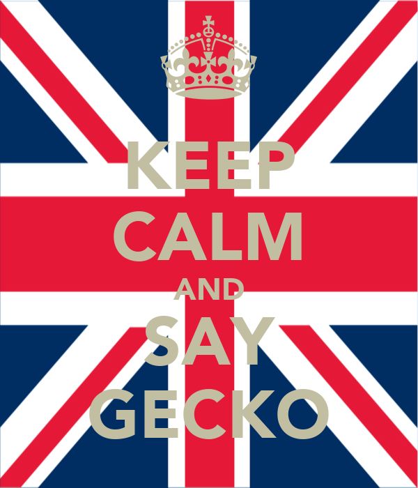 KEEP CALM AND SAY GECKO