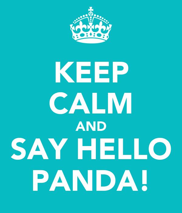 KEEP CALM AND SAY HELLO PANDA!