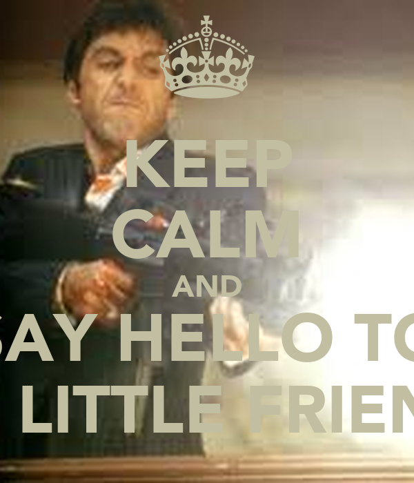KEEP CALM AND SAY HELLO TO MY LITTLE FRIEND!