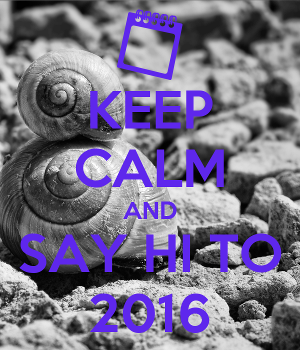 KEEP CALM AND SAY HI TO 2016