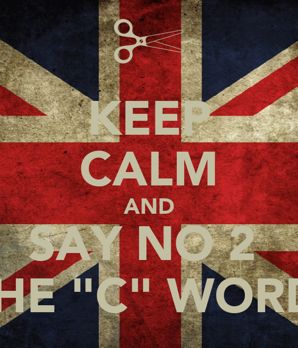 "KEEP CALM AND SAY NO 2  THE ""C"" WORD"
