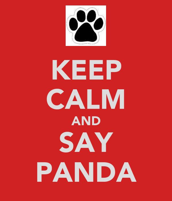 KEEP CALM AND SAY PANDA