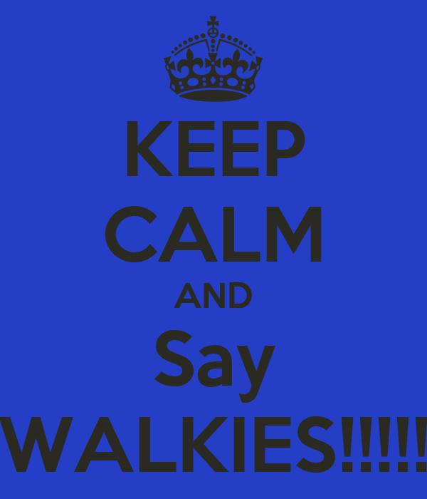 KEEP CALM AND Say WALKIES!!!!!