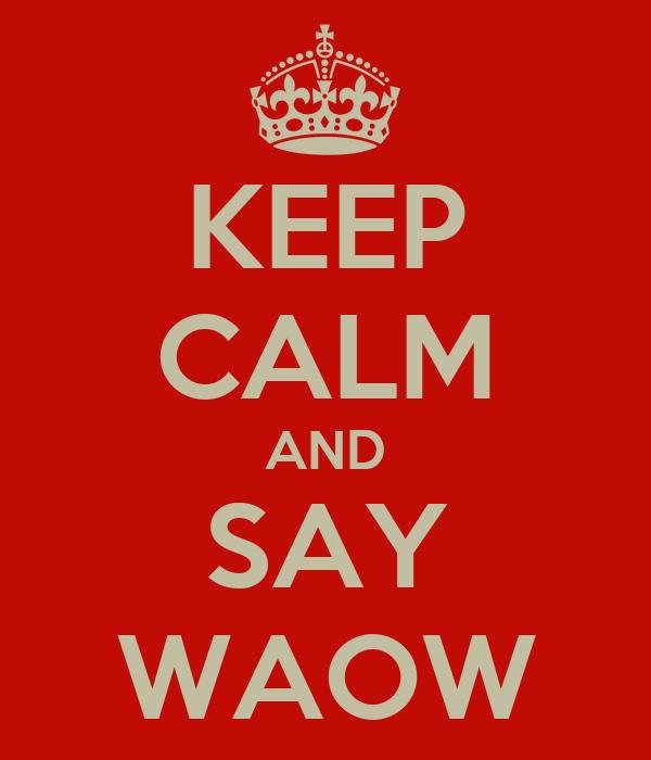 KEEP CALM AND SAY WAOW