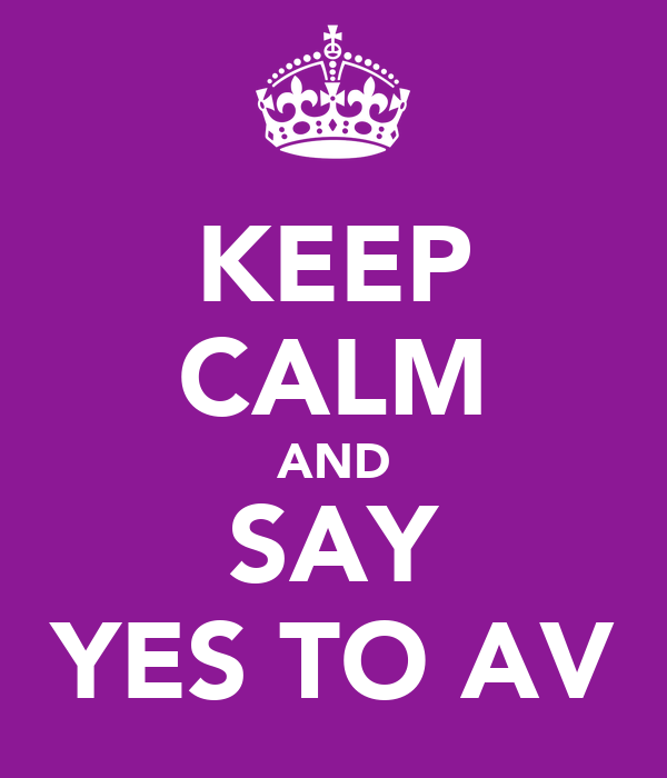 KEEP CALM AND SAY YES TO AV