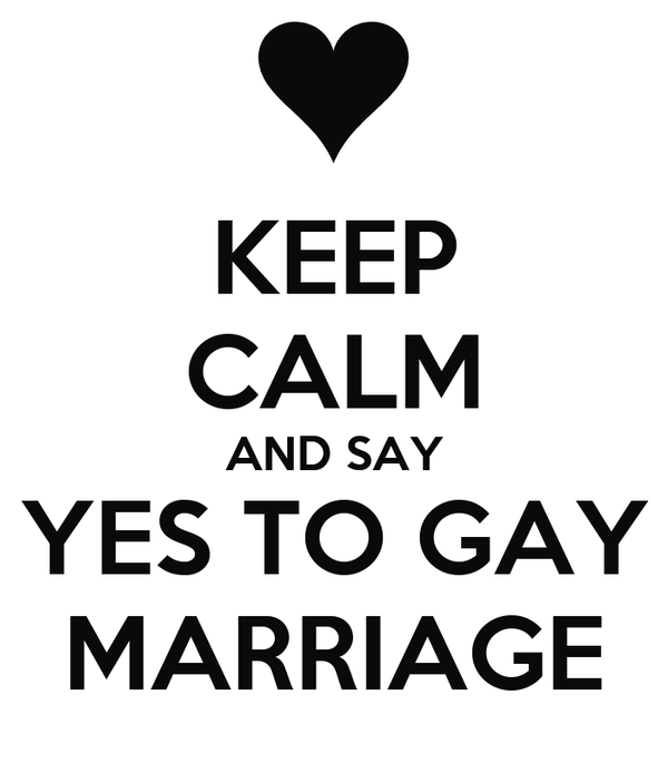 Yes To Gay Marriage 107
