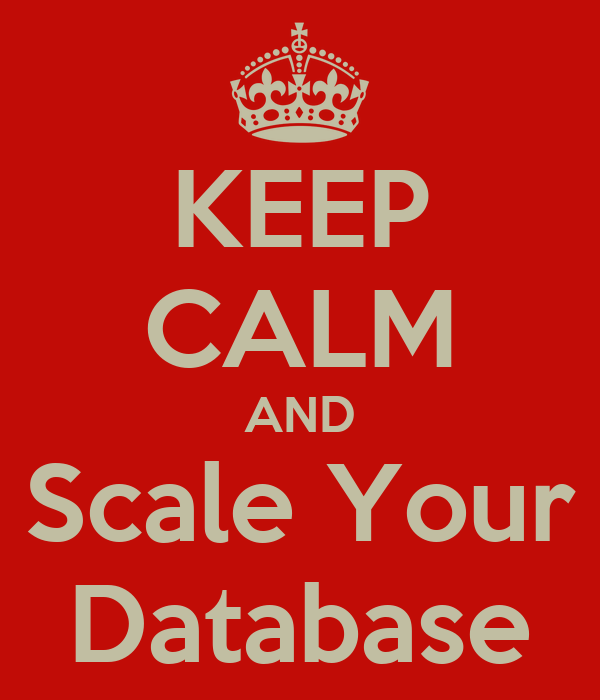 KEEP CALM AND Scale Your Database