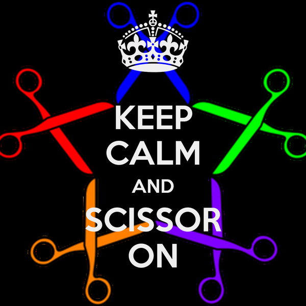KEEP CALM AND SCISSOR ON