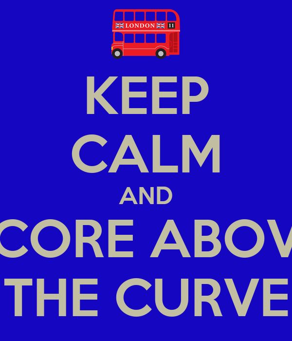 KEEP CALM AND SCORE ABOVE THE CURVE